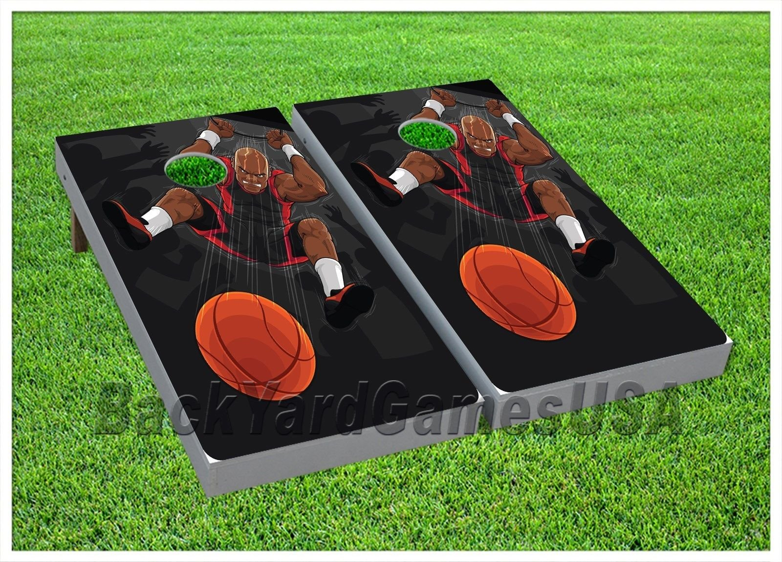 CORNHOLE BEANBAG TOSS GAME w Bags Game Board Massive Dunk NBA Fans Set 493