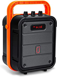 JYX Portable Karaoke Machine, Home Bluetooth PA System with Shoulder Strap, Remote Control Support TWS, Radio Recording, Support TF Card/USB/AUX in for Party, Outdoor and Indoor Activities