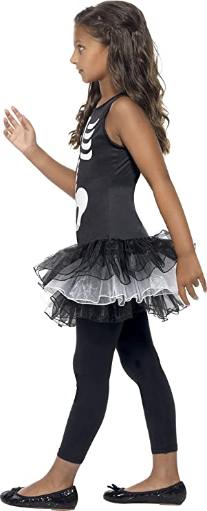 Smiffys-43029L Diseño Disfraz de Esqueleto, Vestido con tutú ...