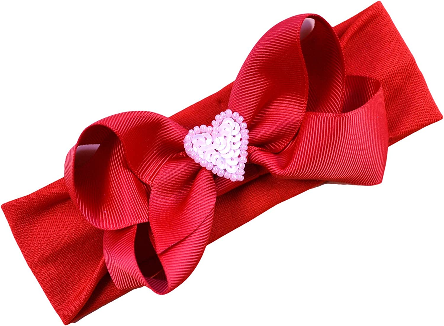 0-6 Month Red And Black Glitter Bow Headband