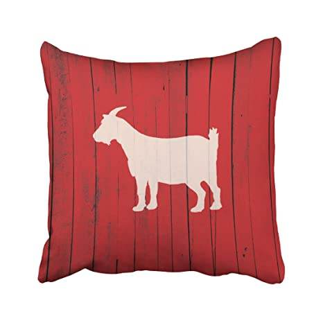 Review Capsceoll rustic farmhouse goat barn wood panel accent Decorative Throw Pillow Case 20X20Inch,Home Decoration Pillowcase Zippered Pillow Covers Cushion Cover with Words for Book Lover Worm Sofa Couch
