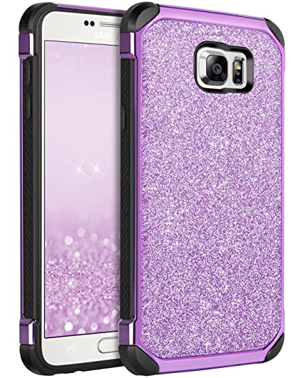 1eb61301a8 Note 5 Case, Galaxy Note 5 Case, BENTOBEN Purple Glitter Luxury Bling  Hybrid Hard