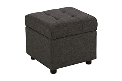 modern storage ottoman. DHP Emily Square Storage Ottoman, Modern Look With Tufted Design, Lightweight, Grey Linen Ottoman R
