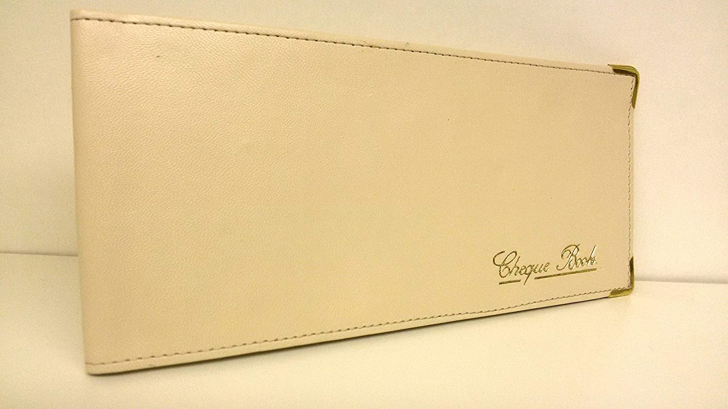AKSHIDE Beige Folding Leather StyleCheque Book Holder/Leather Style Cheque Book Cover