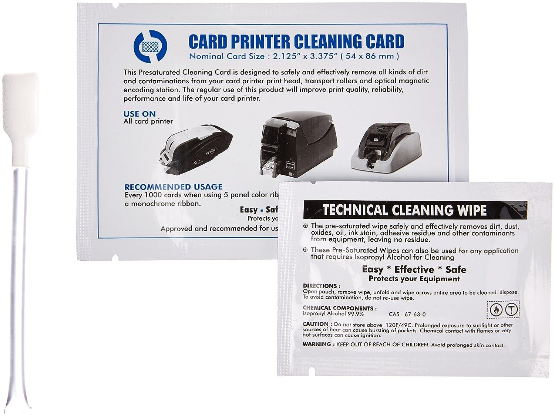 UBICON Kit de limpieza para Evolis A5011 (A5011): Amazon.es: Oficina y papelería
