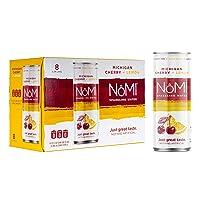 NoMI Sparkling Water, Michigan Cherry Extract & Lemon, 12 fl. oz. (24 Slim Cans)...