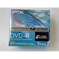 TDK DVD-R 60 min Double Side (2.8GB) (Pack of 5)