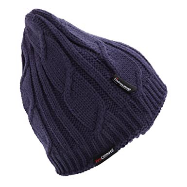 Womens Ladies Knitted Waterproof And Windproof Thermal Thinsulate Hat (L XL  (59cm 8fb641dc982