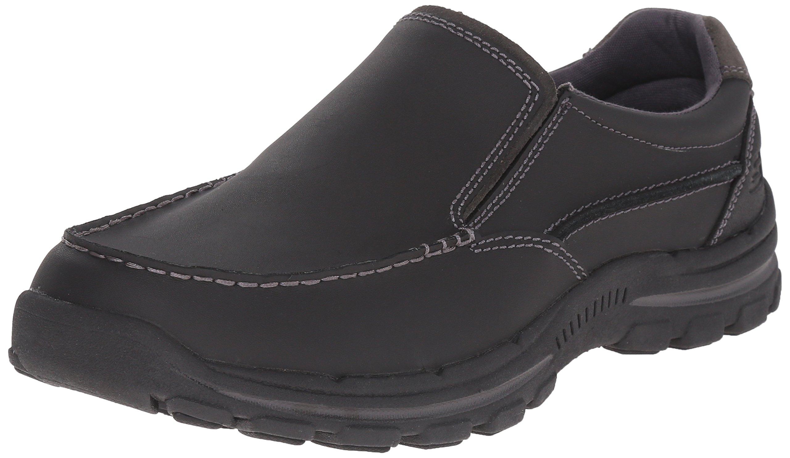 Skechers USA Men's Braver Rayland Slip-On Loafer,Black Leather,13 2E US by Skechers