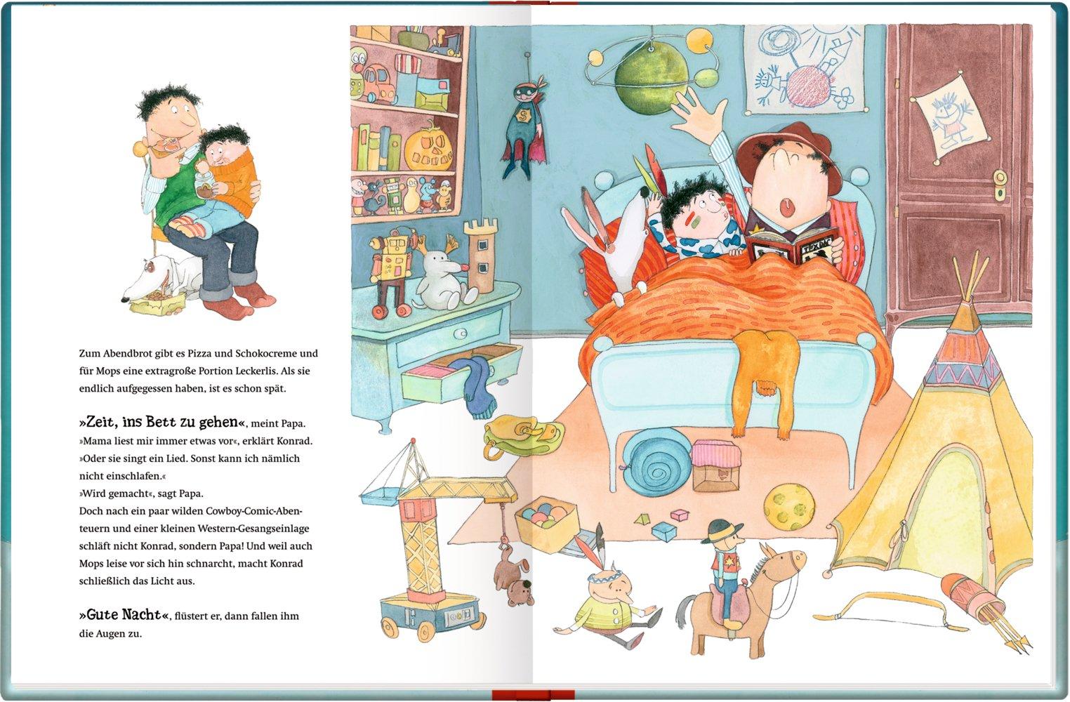 Papa Und Konrad Allein Zu Haus 9783649619550 Amazon Com Books