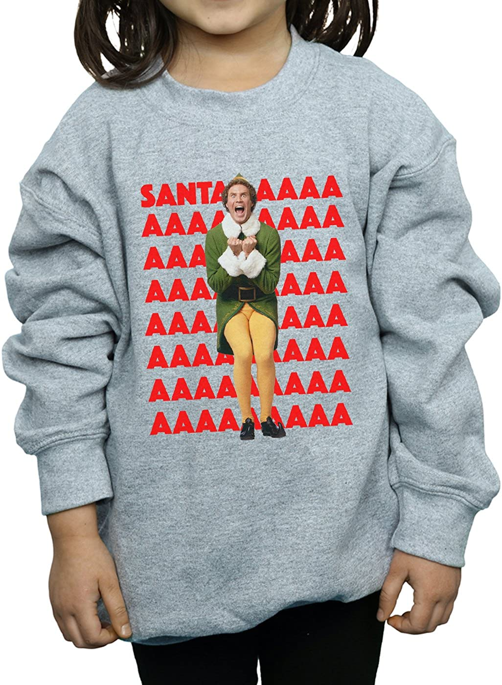 Elf Girls Buddy Santa Scream Sweatshirt