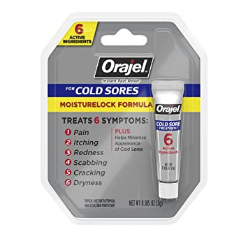Orajel Moisturelock Cold Sore Symptom Treatment, Cream 0 105 oz