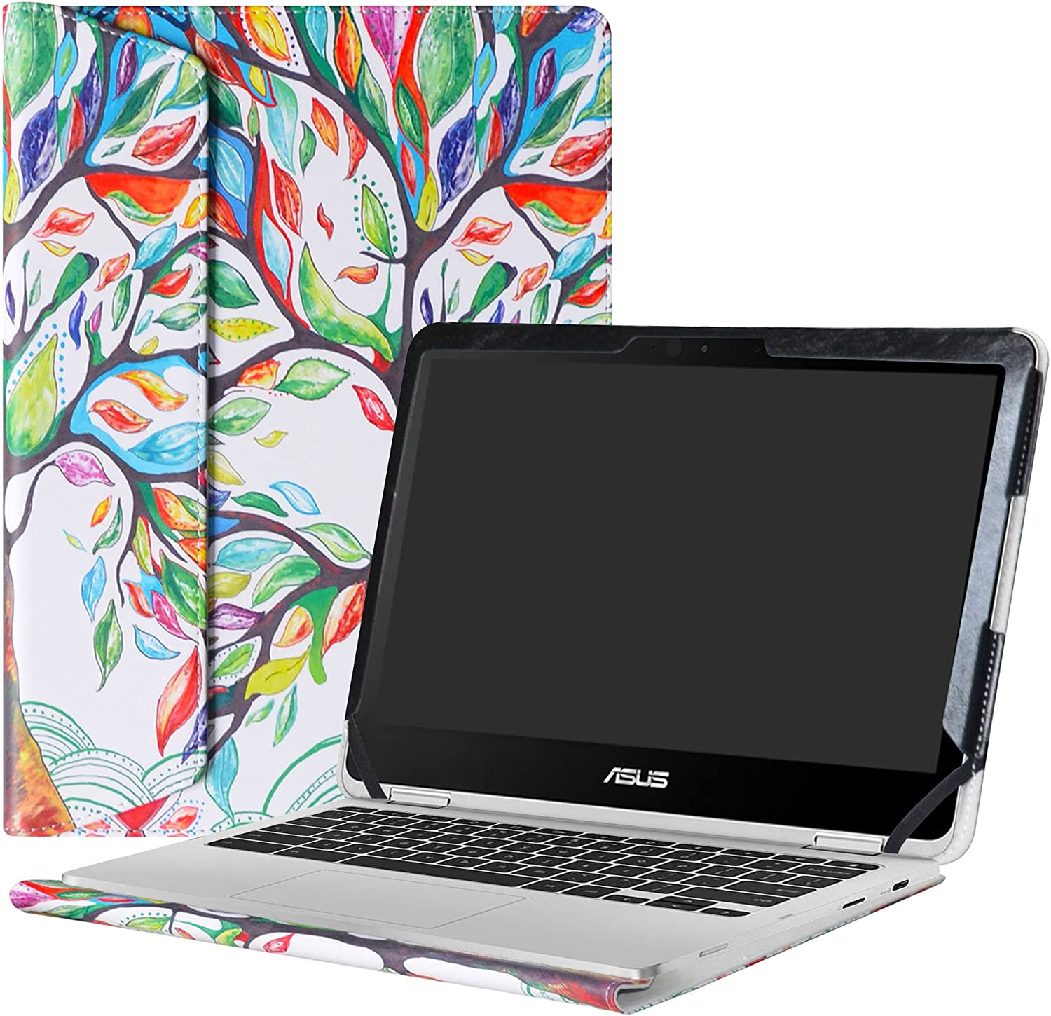 "Alapmk Protective Case Cover for 12.5"" Asus Chromebook Flip C302CA Laptop(Not fit ASUS Chromebook Flip C213SA/C100PA/C101PA/C300SA/C202SA/C201PA),Love Tree"