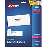 "Avery Easy Peel Address Labels for Laser Printers 1-1/3"" x 4"", Pack of 350 (5262)"