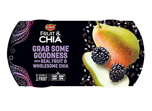 Del Monte Fruit & Chia Snack Cups, Peras en Blackberry sabor ...