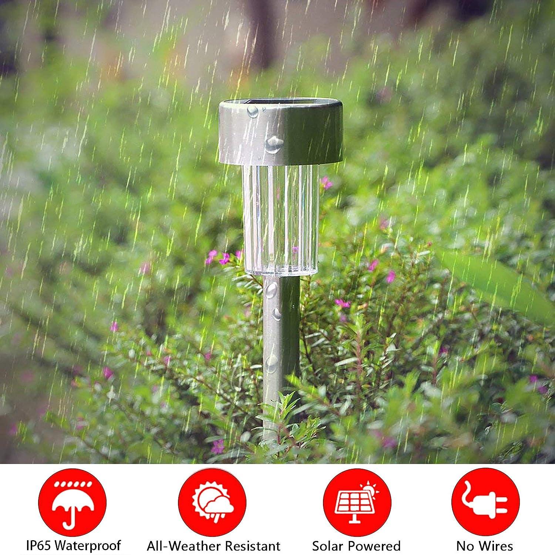 Classe /énerg/étique A+ Pelouse S/&G Top Lumi/ères de Jardin Solaires 10 pi/èces IP65 /étanche Paysage Color/é//Pathway Lampe en Acier Inoxydable LED Solaire Lumi/ères Ext/érieures Pour Patio