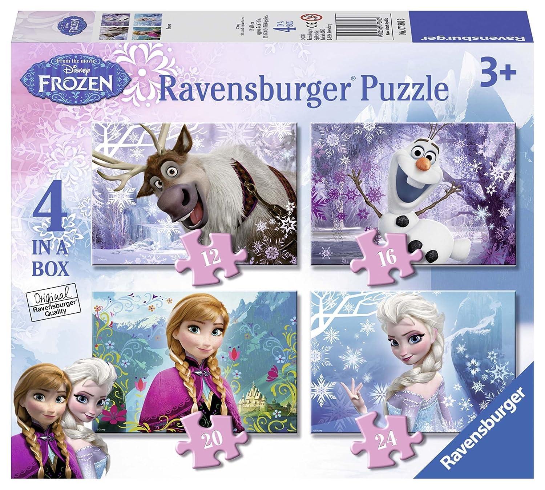 Ravensburger - Disney Die Eiskönigin – Völlig unverfroren 4 in 1 Puzzle-Set (Sortimentsartikel) [UK Import] 7360