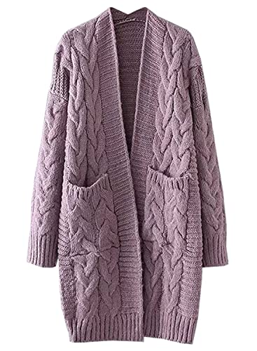 42ada37bc09 ... Sale DUPES featured Futurino Women s Chunky Twist Knitted Open Front  Patch Pocket Long Cardigan Oversized Coat - Nordstrom Anniversary