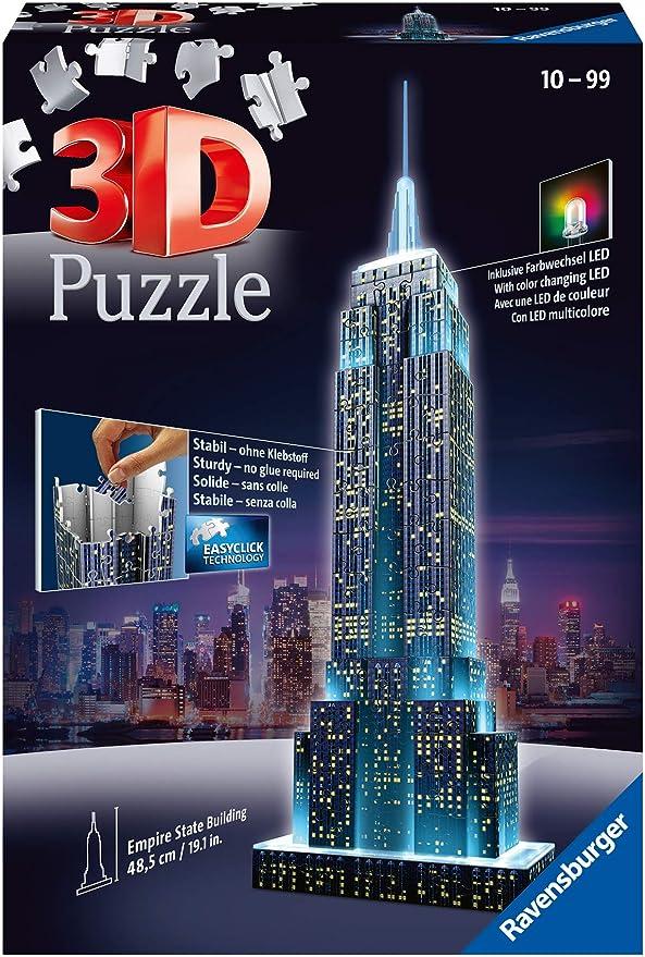 Ravensburger Empire State Building 3D Puzzle with Lights: Amazon.de: Spielzeug
