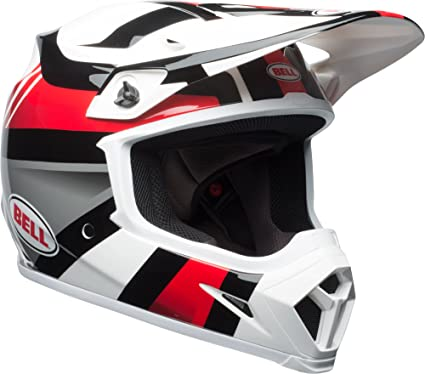 Bell MX-9 MIPS Off-Road Motorcycle Helmet (Gloss White/Black/