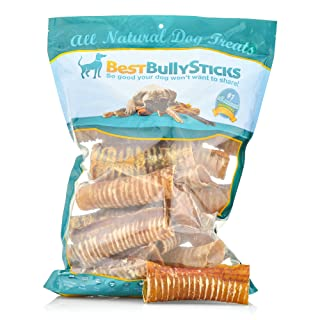 Best Bully Sticks Premium 6-inch Beef Trachea Dog Chews (20 Pack) - All-Natural, Grain-Free, 100% Beef, Single-Ingredient Dog Treat Chew - Promotes Dental Health