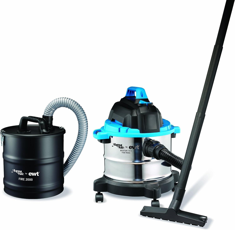 Aquavac 58120204 Boxter 15 S + Fire 2000 EDS - Aspiradora industrial, color negro y azul: Amazon.es: Hogar