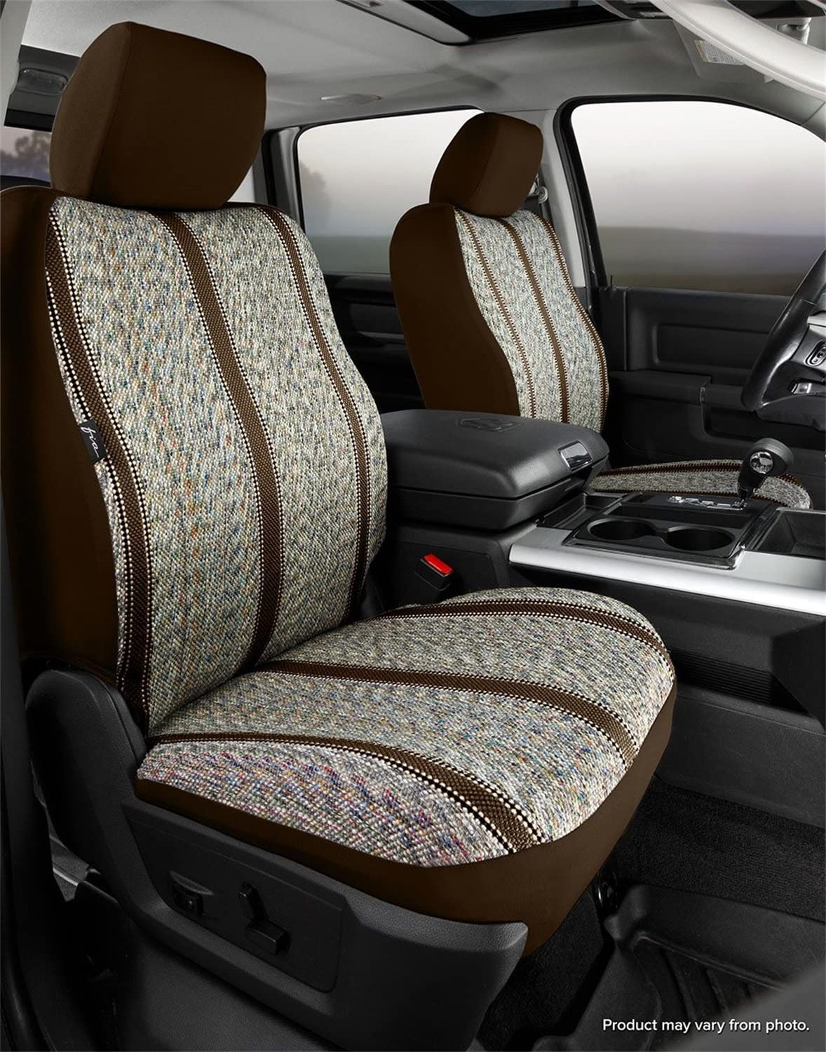 Fia OE38-32 TAUPE Custom Fit Front Seat Cover Bucket Seats Tweed, Taupe
