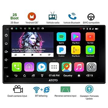 A6 Doble DIN Android Navegación del Coche Estéreo con Doble Bluetooth: Amazon.es: Electrónica