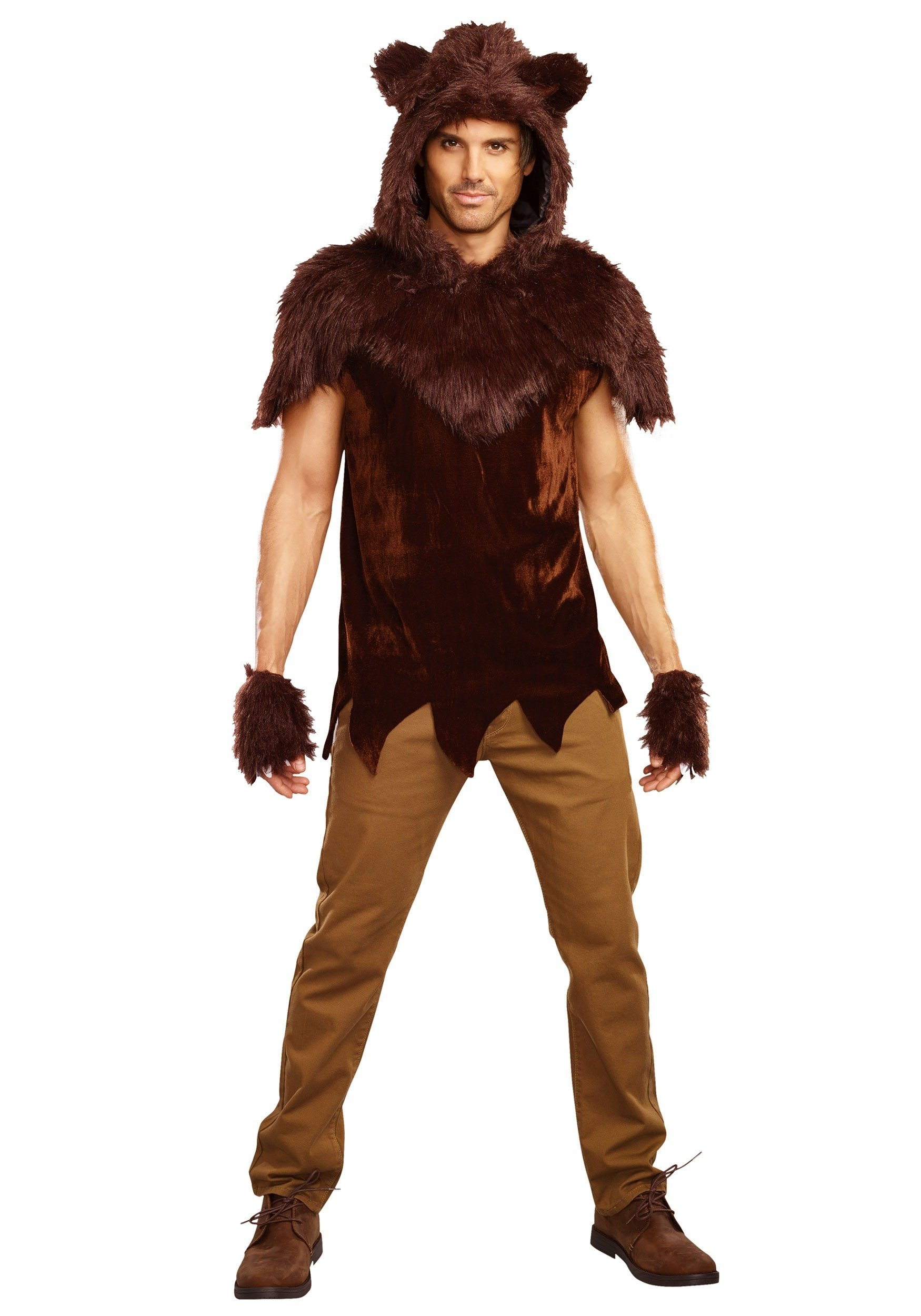Dreamgirl Men's Papa Bear Costume, Brown, Large by Dreamgirl