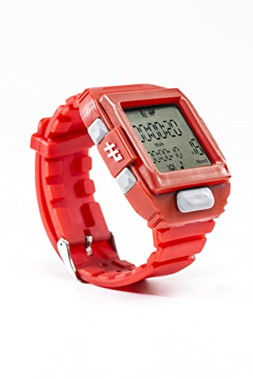 Hall Pass - Reloj temporizador de entrenamiento de intervalo de color rojo: Hall Pass Watches LLC: Amazon.es: Relojes