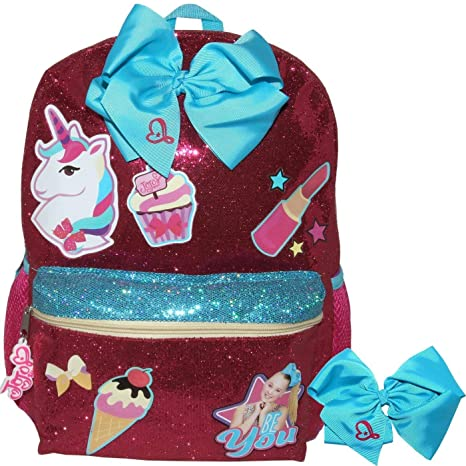 b51c5c401cd Image Unavailable. Image not available for. Color  JoJo Siwa Just Be You Glitter  Backpack ...