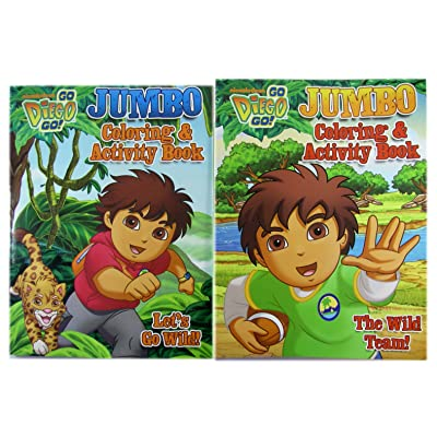 Diego the Rescuer Coloring and Activity Book (1pc) - Diego Activity Book (Assorted Designs): Toys & Games