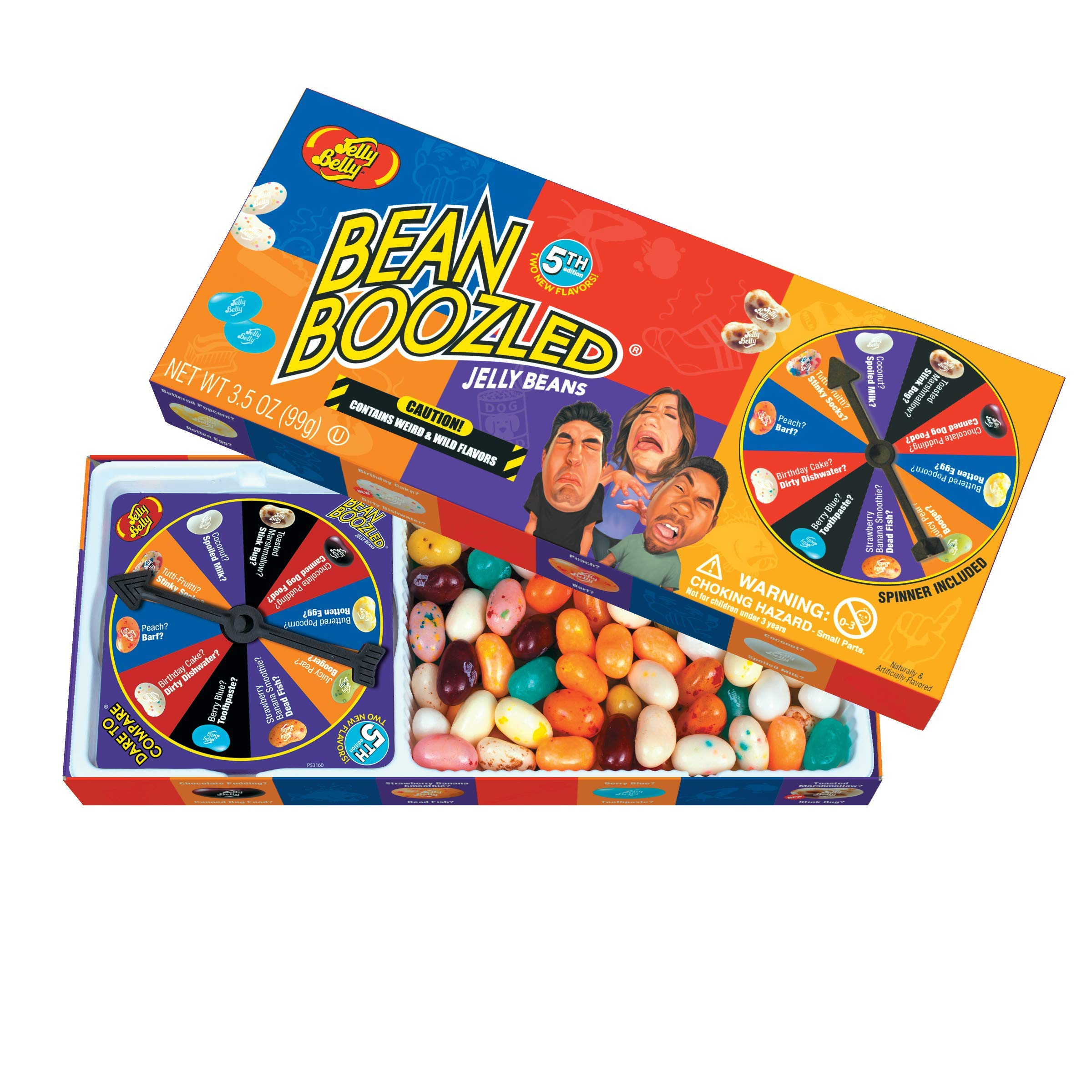 Jelly Belly BeanBoozled Jelly Beans Spinner Gift Box, 5th Edition, 3.5 Ounce (Pack of 1)
