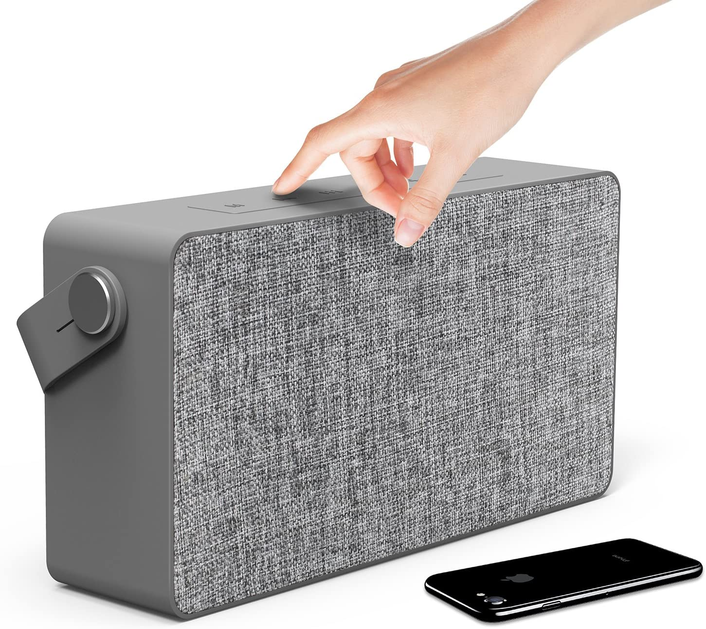 Photive M90 Portable Waterproof Bluetooth Speaker with Built In Subwoofer.20Watt