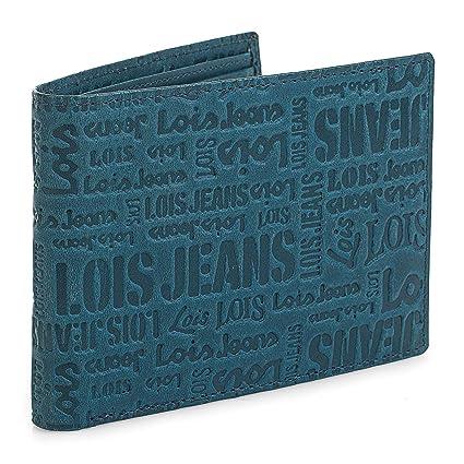 Lois - Cartera de Hombre de Cuero. Billetero de Piel Genuina. Compartimentos Monedas Billetes Tarjetas y Documentación. Caja para Regalo Original. ...