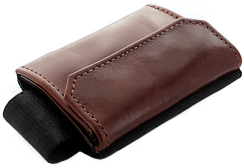 JAIMIE JACOBS Portefeuille Homme Nano Boy Pocket Portefeuilles Minimaliste Porte-Monnaie Fin Mini Wallet Porte-Carte Pince à Billets Brun Foncé