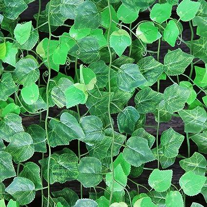 MyLifeUNIT verde simulación flores longitud 241,3 cm/plantas artificiales de la rota para