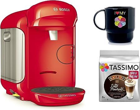 Bosch Tassimo Vivy 2 + T Discos de Bailey s + Tupper Taza Cápsula eléctrica rojo: Amazon.es: Hogar