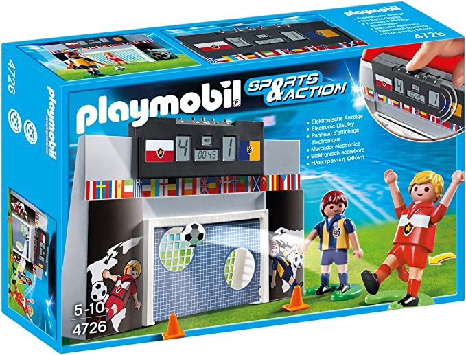 Playmobil Fútbol - Juego de puntería con Marcador electrónico, Juguete Educativo, Multicolor, 30 x 7,5 x 20 cm, (4726): Amazon.es: Juguetes y juegos