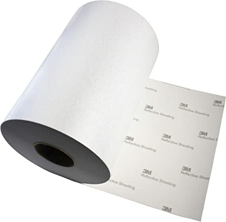 Amazon Com 3m Reflective White Silver Adhesive Craft Vinyl Sheet 12 Inch X 30 Inch Roll Pack For Silhouette Cricut And Cameo 12 X 30 Roll Home Kitchen