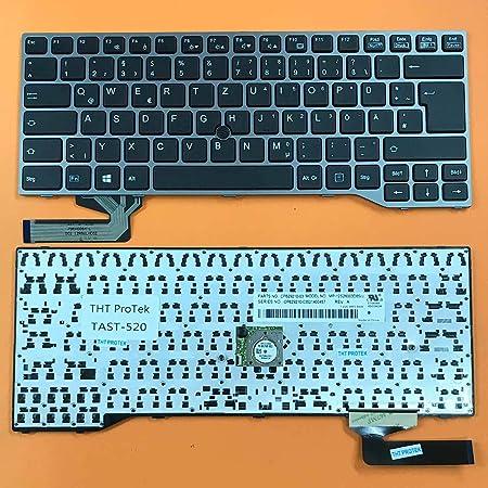 Teclado Compatible con Fujitsu Lifebook E744 – Color: Negro ...