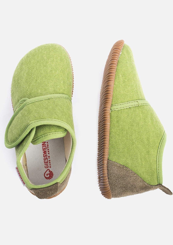 Flexible Slipper GIESSWEIN Strass Leichte Pantoffeln f/ür M/ädchen /& Jungen Klettverschluss/ Slim-Fit Gummi Sohle Kinder Hausschuhe Unisex