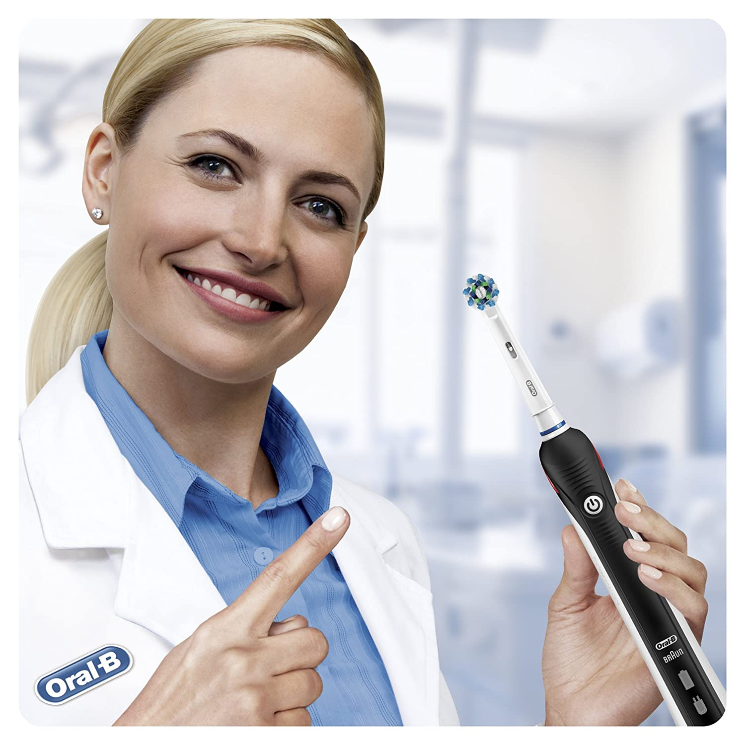 Oral B Pro 2 2500 Cross Action Electric Toothbrush Rechargeable Black Pro2500blk Ebay
