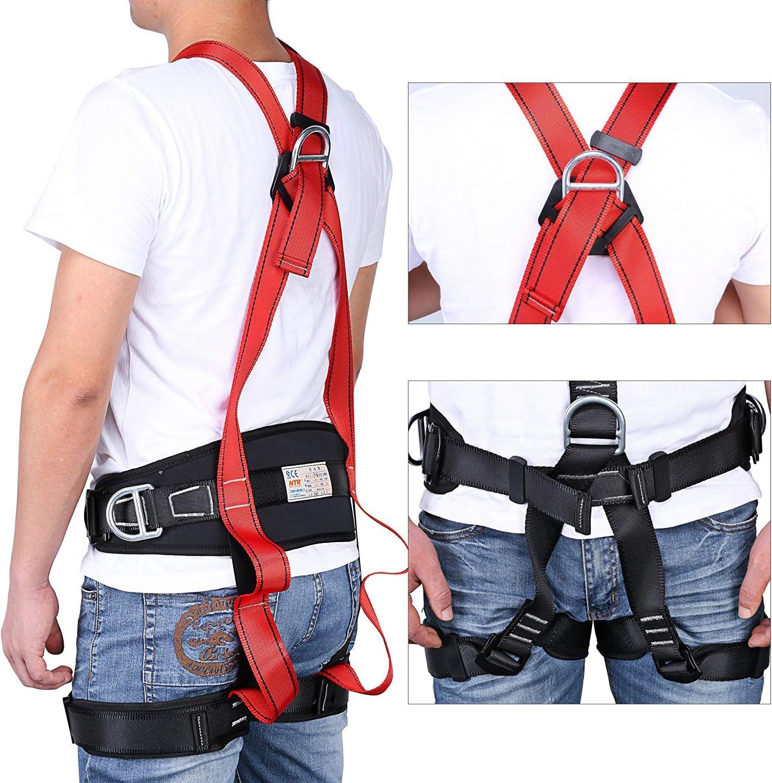 SVNA Cinturón de Seguridad de Escalada Arnés de Escalada Ajustable ...