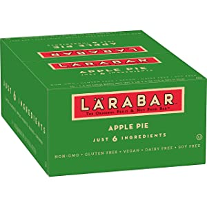Larabar Gluten Free Snack Bar, Apple Pie 1.6 oz Bars (16 Count), Whole Food Gluten Free Bars, Dairy Free Snacks
