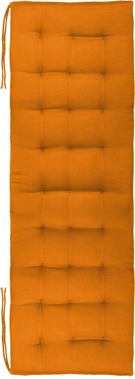 Brandsseller - Cojín para banco, para interior y exterior, 27 puntadas, 120 x 40 x 4 cm