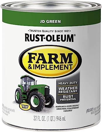 Rust Oleum 7435502 Specialty Farm Equipment Brush On Paint Quart John Deere Green Household Paint Solvents Amazon Com