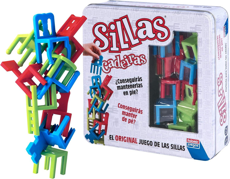 Falomir Sillas Colors, Juego de Mesa, Habilidad, Color Blanco (28022): Amazon.es: Juguetes y juegos
