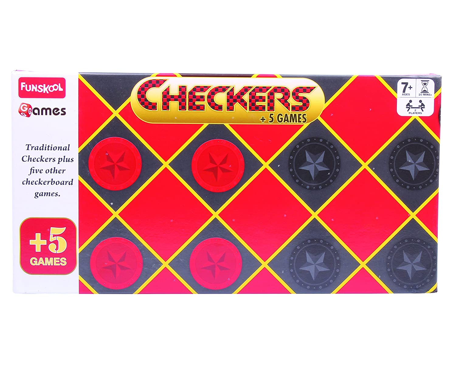 Buy Funskool Checkers Plus 5 Online at Low Prices in India - Amazon.in