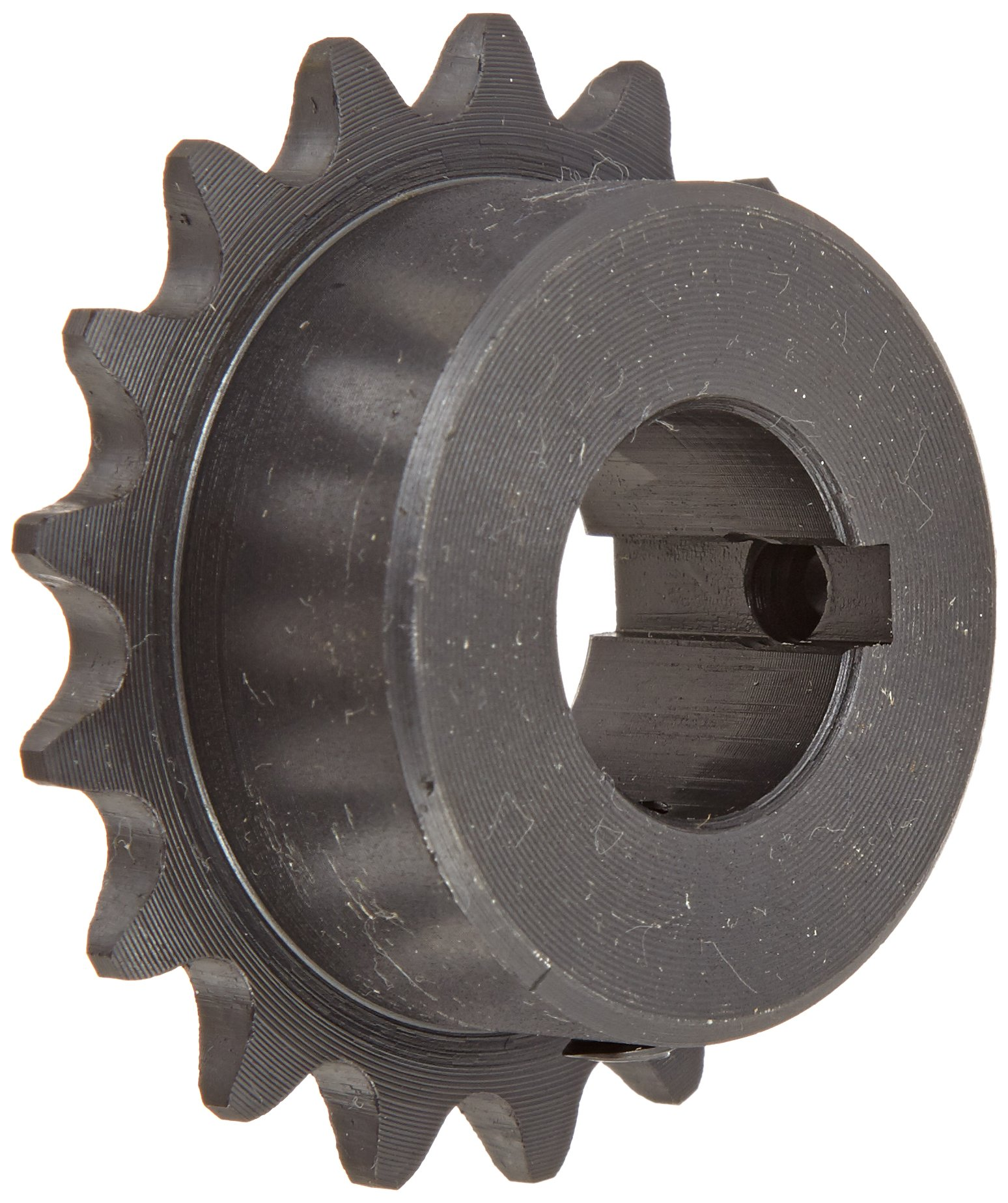 Tsubaki 35B17FL Finished Bore Sprocket, Single Strand, Hardened Teeth, Inch, #35 ANSI No., 3/8'' Pitch, 17 Teeth, 3/4'' Bore by Tsubaki